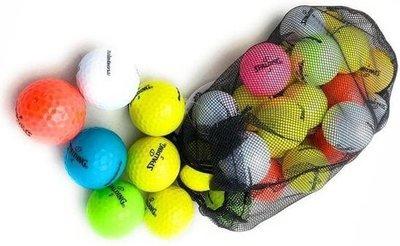 24 Gekleurde Spalding Golfballen