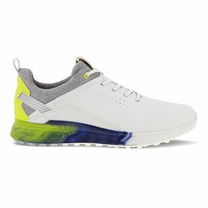 Ecco M Golf S-Three White Lime Punch