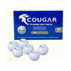 Cougar Titanium 5x 15 Golf Ballen 75 stuks