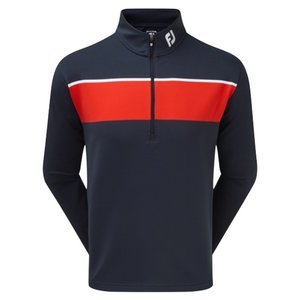 Footjoy Jersey Chest Stripe Chill-Out Pullover Navy