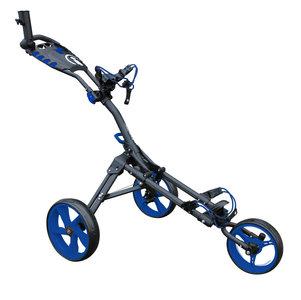 iCart One Compact 3 Wiel Golf Trolley Zwart Blauw