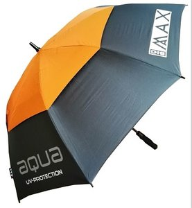 Big Max Aqua UV Golf Paraplu Charcoal Oranje
